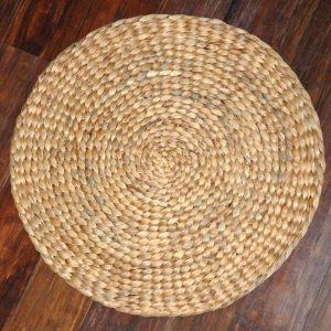 Thảm cói tròn 30 - 40 cm - Đêm ngồi đan thủ công