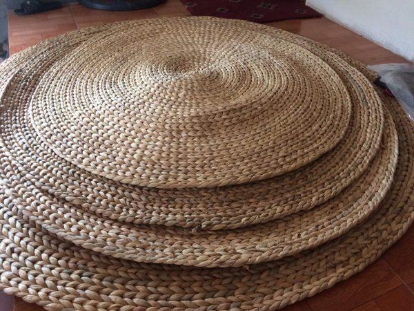 Thảm Lục Bình Decor (1m – 2,2m) đan thủ công – Straw Rug