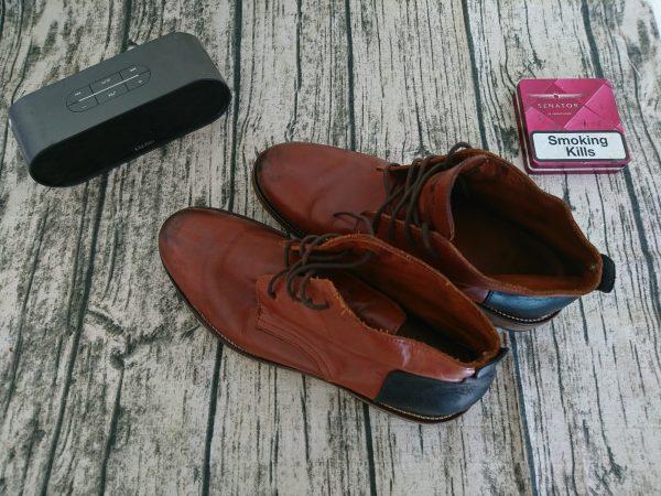 Giày da bò nam schmoove cổ trung 1