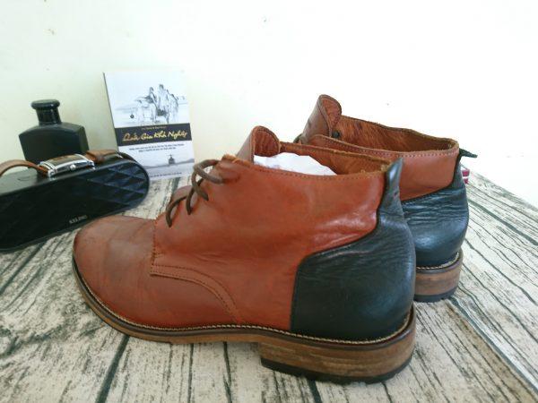 Giày da bò nam schmoove cổ trung 5