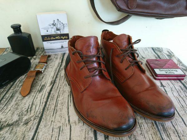 Giày da bò nam schmoove cổ trung 3