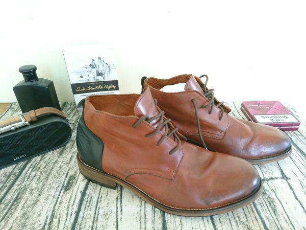 Giày da bò nam schmoove cổ trung 2