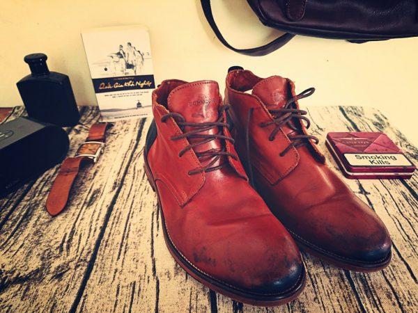 Giày da bò nam schmoove cổ trung