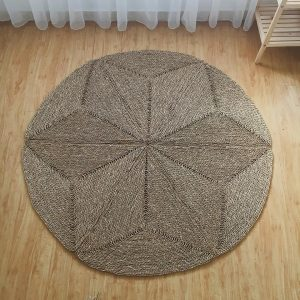 Thảm cói tròn decor