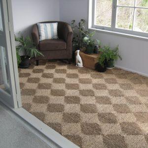 Thảm cói vuông decor phong cách vintage