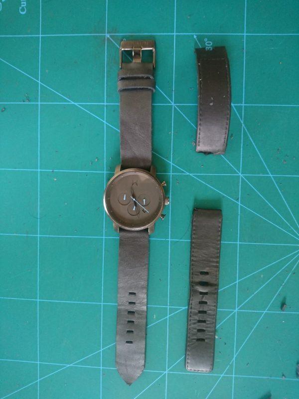 Dây da đồng hồ Handmade 1