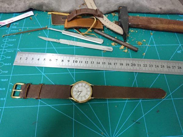 Dây da đồng hồ Handmade 2