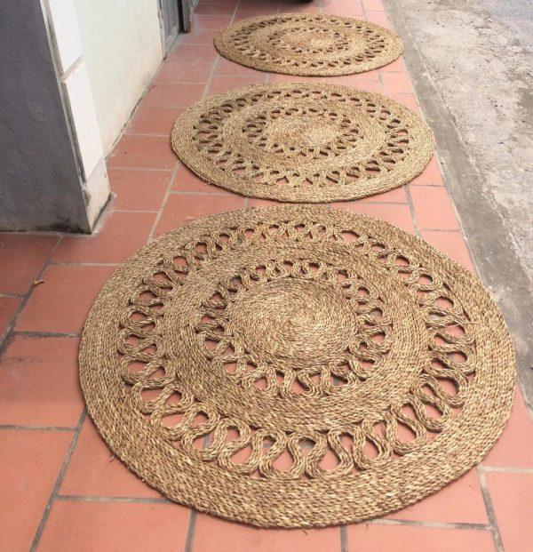 Thảm cói hoa chanh decor