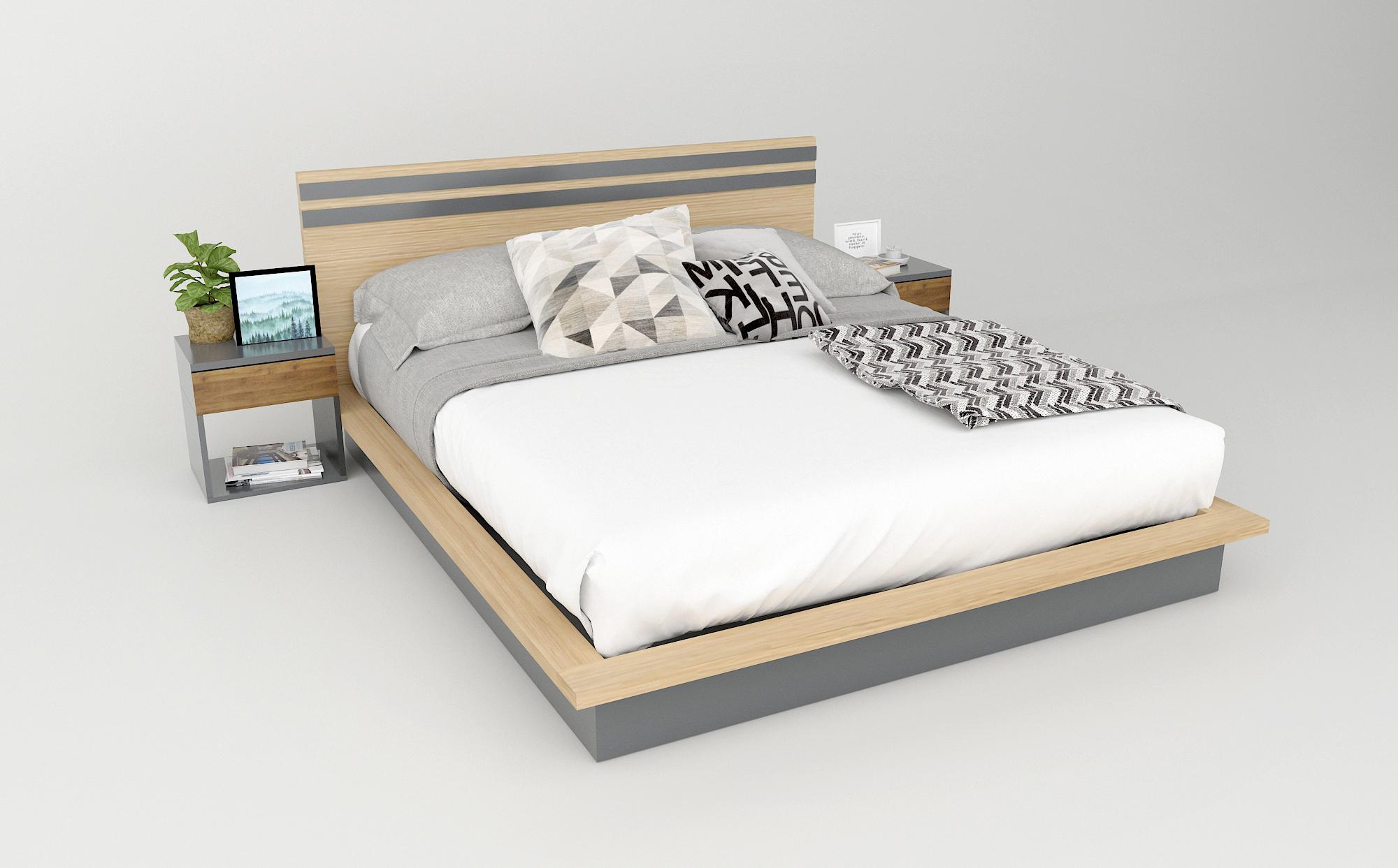 Giường gỗ công nghiệp đẹp hiện đại
