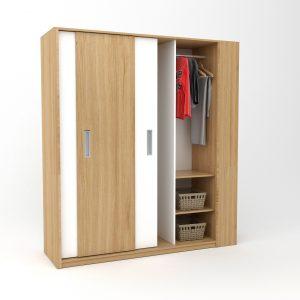 tủ áo ba buồng gỗ 043