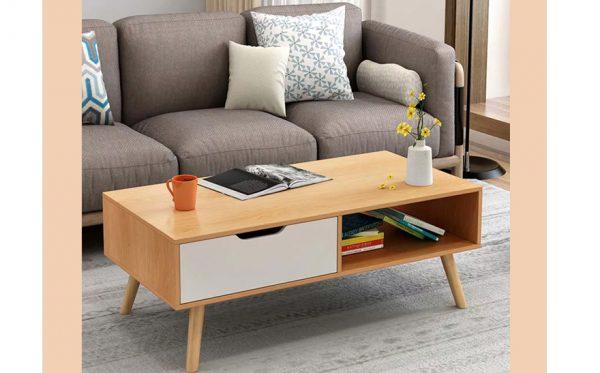 bàn tràsofa chân gỗ sồi 004A