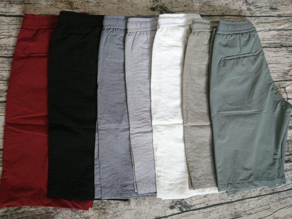 chuyên sỉ quần lửng nam vải đũi lưng thun 7