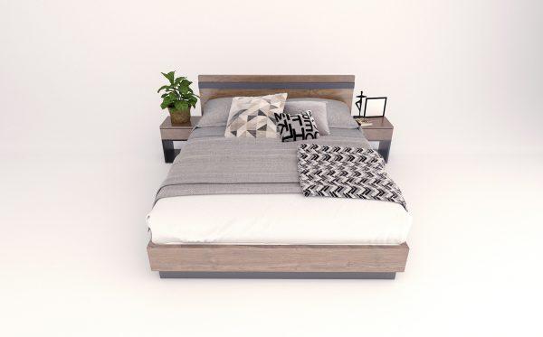 giường ngủ màu trắng hiện đại 007