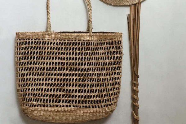 Túi cói xinh đan thưa 12