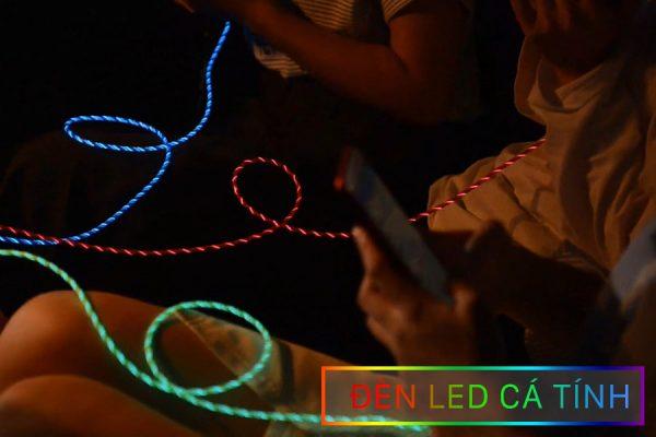 Cáp sạc điện thoại từ tính phát sáng 3 in 1 -3