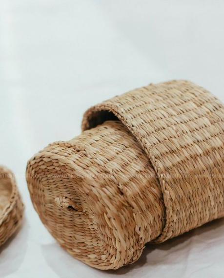 Bộ 3 hộp đựng trang sức - hộp cói handmade đựng đồ 3