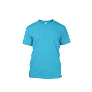 Áo phông nam trơn cotton màu xanh dương