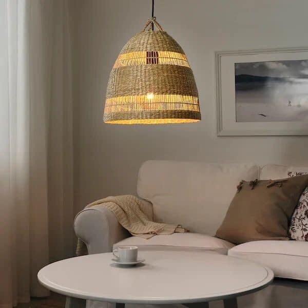Chui đèn decor trang trí - Chui đèn cói decor vintage