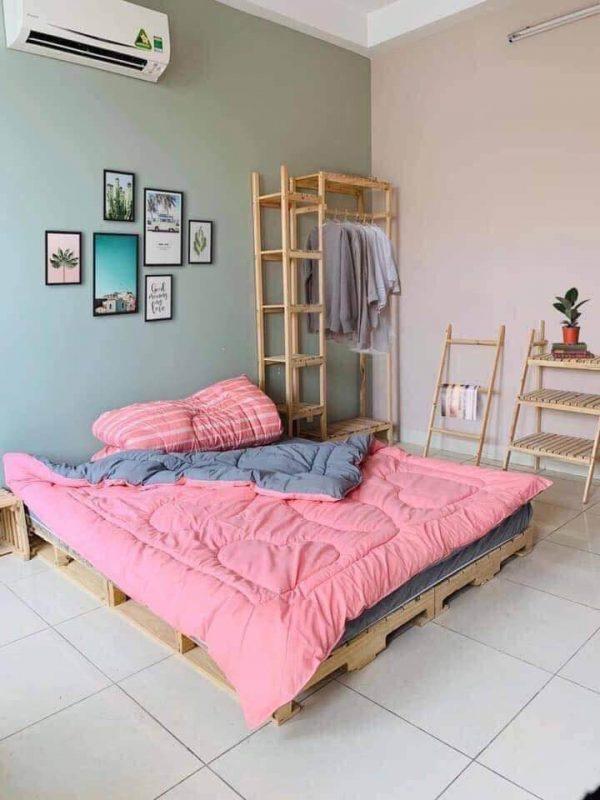 Giường Pallet 1m6 x 2m Decor Phòng Ngủ 3