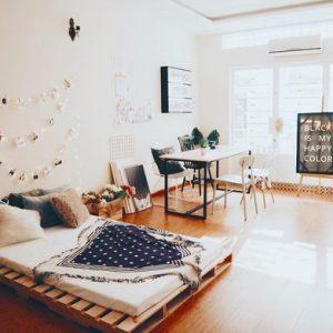 Giường Pallet 1m6 x 2m Decor Phòng Ngủ 1
