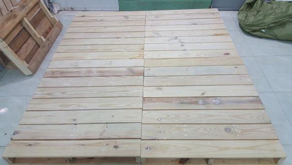 Giường pallet gỗ 1