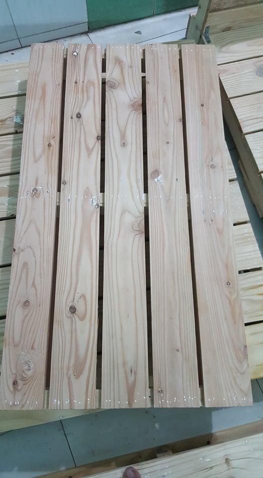 Giường pallet gỗ 4