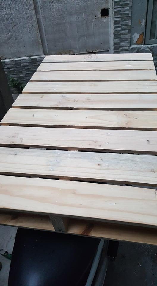 Giường pallet gỗ 8