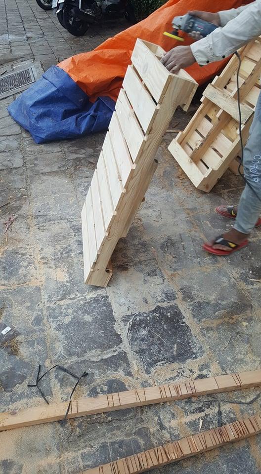 Giường pallet gỗ 9
