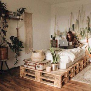 Giường Pallet 1m2 x 2m Decor Phòng Ngủ 1