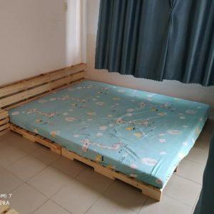 Giường Pallet Có Đầu Giường 1m8 x 2m Decor Phòng Ngủ 1