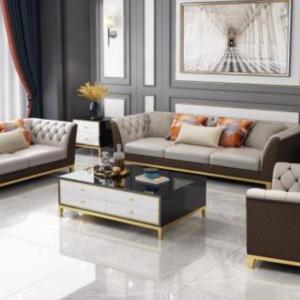 Bộ Sofa Khung Gỗ Sồi Hiện Đại Cách Điệu 1