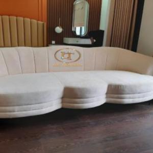 Ghế Sofa Khung Xương Gỗ Sồi Cách Điệu 1