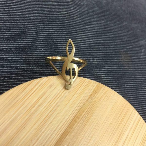 Nhẫn Hình Nốt Nhạc Handmade 1