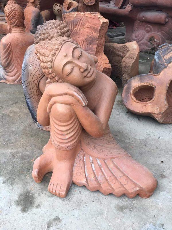 Tượng Phật Ngủ Gốm Đất Nung - Gốm Champa 1