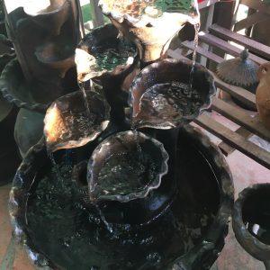 Gốm Phong Thuỷ Decor - Gốm Đất Nung Tiểu Cảnh Thác Nước 1