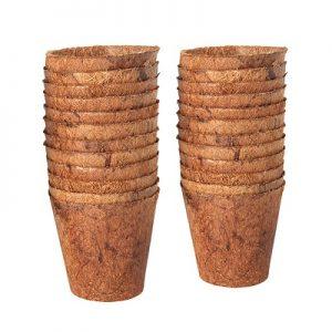 Chậu Xơ Dừa Tròn Nhỏ – Miệng 5,5cm x Đáy 3,5cm