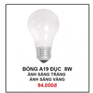 Bóng đèn A19 Đục 8W