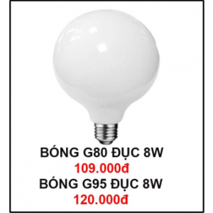 Bóng đèn G80 Đục 8W