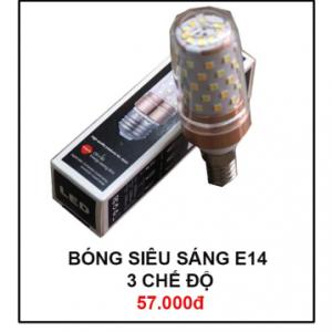 Bóng đèn siêu sáng E14 3 chế độ