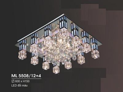Đèn ốp trần pha lê ML5508/12+4