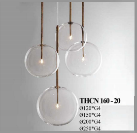 Đèn thả thủy tinh Arto THCN160-20