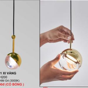 Đèn thả thủy tinh THD21/1 Xi Vàng