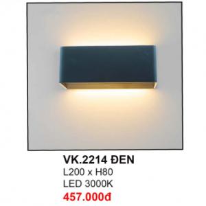 Đèn hắt tường VK2214 Đen