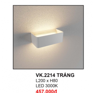 Đèn hắt tường VK2214 Trắng