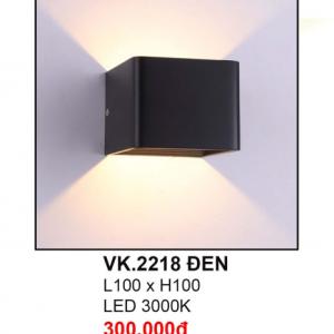 Đèn hắt tường VK2218 Đen