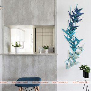 Decor bức tường đẹp - TRANH SẮT HOA CHUỐI CẢNH – PIC162