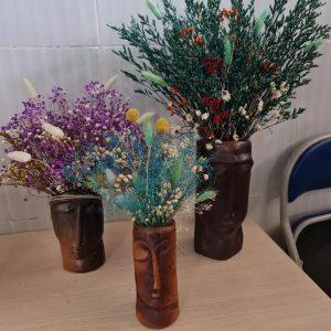 Bộ 3 Bình Cắm Hoa Khô Gốm Đất Nung