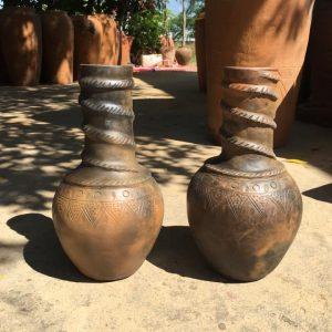 Cặp Lọ Gốm Đất Nung Màu Tự Nhiên Cao 40cm