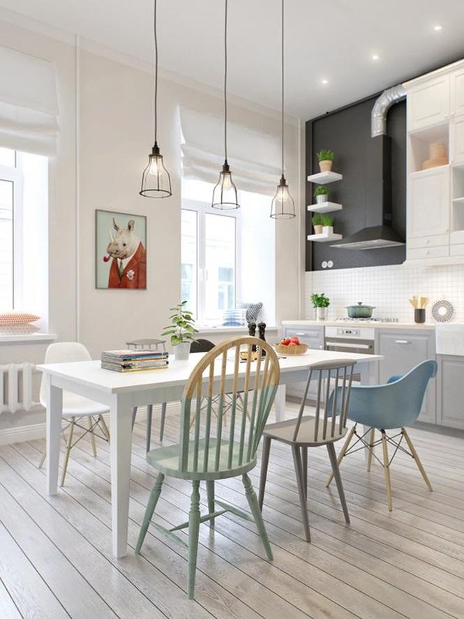 Những đồ vật màu trắng sáng đã giúp cho căn phòng trở nên sáng sủa, sạch sẽ hơn